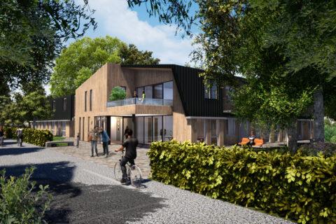 Impressie De Hazelaar Huis Ter Heide Vooraanzicht Lengkeek Architecten