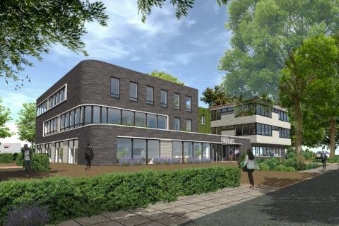 Uitbreiding Kantoor Nijhuis Apeldoorn Lengkeek Architecten 01. Impressie Voorzijde 1