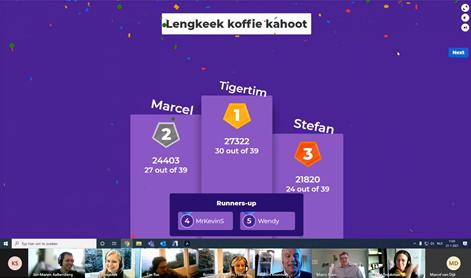 Koffie Kahoot! Quiz Lengkeek Architecten